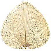 "Palisade 18"" Natural Palm Leaf Wide Oval Blade Set"