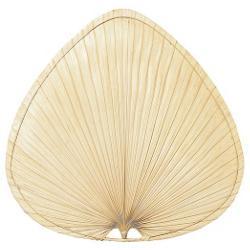 """Palisade 18"""" Natural Palm Leaf Wide Oval Blade Set"""
