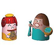 Pina Farina & Fiona Fish Set of 2 Figurines
