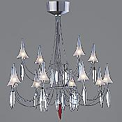 Plume 12 Light Crystal Chandelier