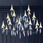 Plume 24 Light Crystal Chandelier