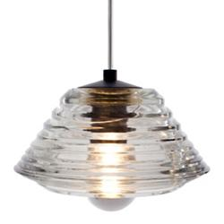 Pressed Glass Pendant - Bowl