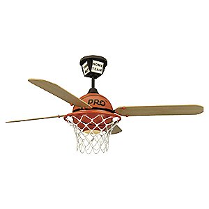 Basketball Kids Fan with Downlight