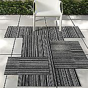 Purl Stripe Shag Indoor / Outdoor Mat