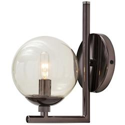Quimby Sconce (Brown Nickel/Smoke Glass) - OPEN BOX RETURN