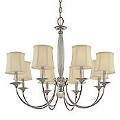 Rockville Chandelier (8 Lights/Nickel) - OPEN BOX RETURN