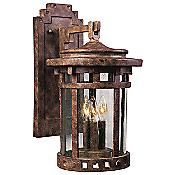 Santa Barbara Aluminum Outdoor Wall Sconce