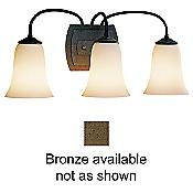 Simple Lines 3-Light Vanity (Bronze/Opal) - OPEN BOX RETURN