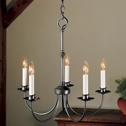 Simple Lines Five Arms Chandelier