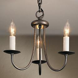 Simple Sweep Three Arms Chandelier