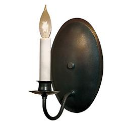 Single Light On Oval Back Wall Sconce