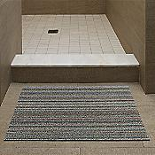Skinny Stripe Shag Door Mat