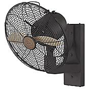 Skyy Wall Fan (English Bronze/Beechwood) - OPEN BOX RETURN