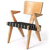 Spanner Lounge Chair (Black/Light Birch) - OPEN BOX RETURN