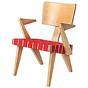 Spanner Lounge Chair with Arms (Red/Light Birch) - OPEN BOX