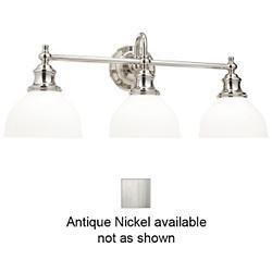 Sutton Bath Bar (Opal/Antique Nickel/3 Lights) - OPEN BOX