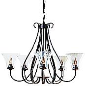 Sweeping Taper Five Arms Chandelier With Water Glass