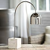 Tavertine Base Dome Task Lamp