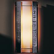 Textured Vertical Panels Outdoor Wall Sconce