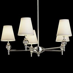 Thalia Chandelier (White/Silver) - OPEN BOX RETURN