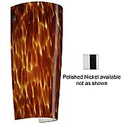 Tomas Wall Sconce (Amber Cloud/Polished Nickel) - OPEN BOX