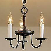 Traditional Three Arm Foyer Chandelier- Large