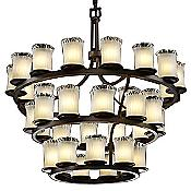 Veneto Luce Dakota Inverted 3-Tier Chandelier