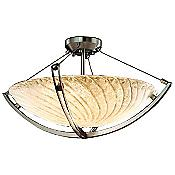 Veneto Luce Semi-Flush Bowl with Crossbar