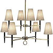 Ventana 2-Tier Chandelier (Brass) - OPEN BOX RETURN