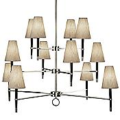 Ventana 3-Tier Chandelier (Nickel) - OPEN BOX RETURN