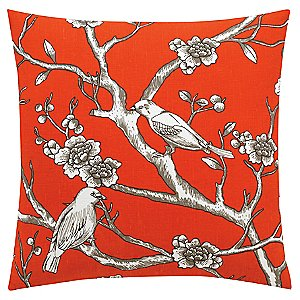 Red Throw Pillow <br/> Vintage Blossom Pillow by DwellStudio
