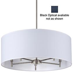 Walker Drum Chandelier (Black Optical/Nickel) - OPEN BOX