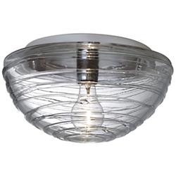 Wave Flushmount (Clear/A19 Bulb/Large) - OPEN BOX RETURN