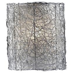 Wired Wall Sconce (Brushed Steel) - OPEN BOX RETURN