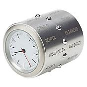 World Time Clock (Stainless Steel) - OPEN BOX RETURN