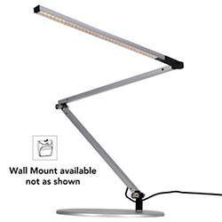 Z-Bar Slim Gen 3 Desk Lamp (Silver/Wall Mount) - OPEN BOX