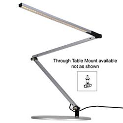 Z-Bar Slim Gen 3 Lamp (Silver/Through-Table/Warm) - OPEN BOX