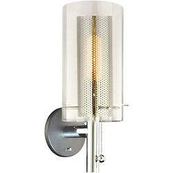 Zylinder Wall Sconce (Chrome/Clear) - OPEN BOX RETURN