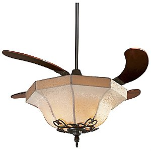 Air Shadow Ceiling Fan with Fabric Shade by Fanimation