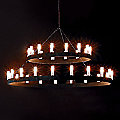 Two Tier Chandelier by FontanaArte