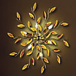 Astree P-PL 6 Wall/Ceiling Light by Gallery Vetri d