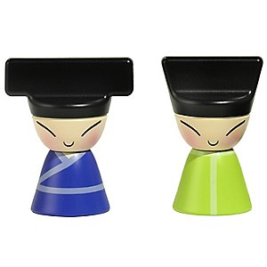 King & Queen Chin Set of 2 Magnets by Alessi