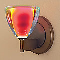 Rainbow II Round Wall Sconce by Bruck Lighting Systems