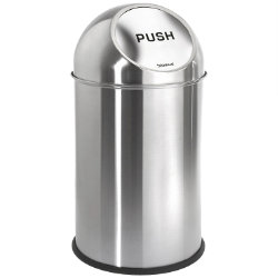 INTRO Pushman Trash Can by Blomus