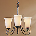 Three Arms Scroll Up Light Chandelier by Hubbardton Forge
