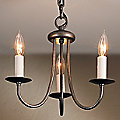 Simple Sweep Three Arms Chandelier by Hubbardton Forge