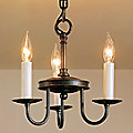 Traditional Three Arm Foyer Chandelier- Large by Hubbardton Forge