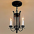 Forged Straps Three Arm Foyer Chandelier by Hubbardton Forge