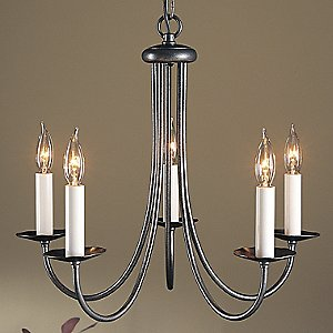 Simple Sweep Five Arms Chandelier by Hubbardton Forge