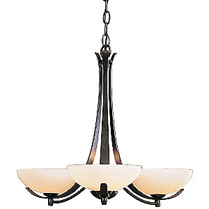Aegis Three Arms Chandelier by Hubbardton Forge